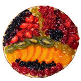 Fruit round pie. Royalty Free Stock Image
