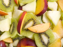 Fruit salad. Fresh kind of fruits with different colours Stock Image