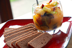 Fruit salad stock images