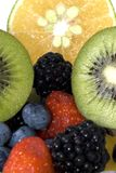 Fruit Salad. A colorful fruit salad with many differnt textures and colors royalty free stock image