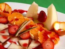 Fruit salad. Healthy salad of assorted fruit Stock Images