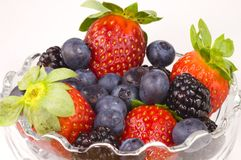Fruit Salad. A container full of berries Royalty Free Stock Image