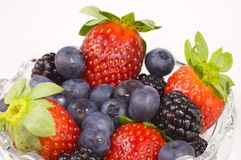 Fruit Salad. A container full of berries Stock Photo