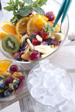 Fruit salad. End of the meal with fruit salad stock image