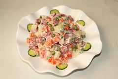 Fruit salad. Enjoy delicious desserts Stock Image