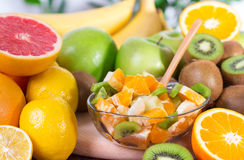 Fruit salad. Mix of different fruits Royalty Free Stock Image