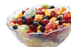 Fruit Salad. Glass bowl of luscious fresh fruit salad Royalty Free Stock Photos