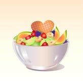 Fruit salad vector illustration