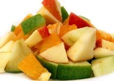 Fruit salad. On a white background Royalty Free Stock Photos