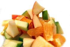 Fruit salad. On a white background Royalty Free Stock Image