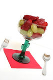 Fruit salad. In a glass cup Royalty Free Stock Image