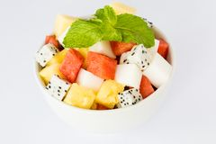 Fruit salad and agar dessert Stock Photo