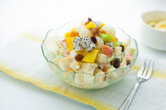 Fruit Salad. Assorted Fruit salad in a bowl Stock Photography