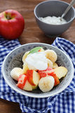 Fruit salad with banana Stock Images