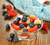 Fruit salad with blueberries Stock Photography
