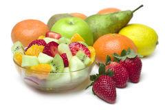 Fruit Salad in the bowl. Fresh Fruit Salad in the bowl Stock Photography