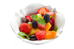 Fruit salad on bowl Stock Photo