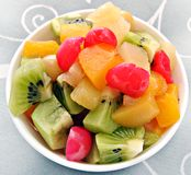 Fruit salad in a bowl Royalty Free Stock Image