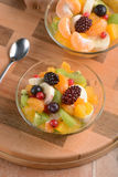 Fruit salad in the bowl Royalty Free Stock Images