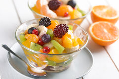 Fruit salad in the bowl Royalty Free Stock Photography