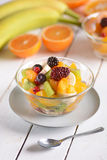 Fruit salad in the bowl Stock Image