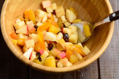 Fruit salad in bowl Stock Photos