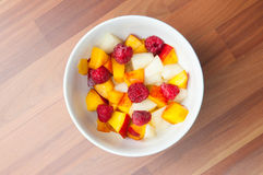 Fruit salad bowl Stock Photos