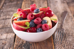 Fruit salad in bowl Royalty Free Stock Images