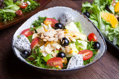 Fruit salad in the bowl Stock Photography
