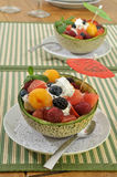 Fruit salad bowls Stock Image