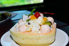 Fruit Salad in Cantaloupe Bowl Royalty Free Stock Photography
