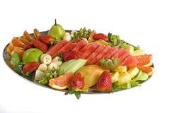 Fruit Salad Catering Platter. Colorful fruit salad catering platter with assorted fruits. Yumm Stock Image