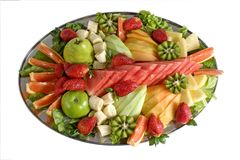 Fruit Salad Catering Platter royalty free stock image