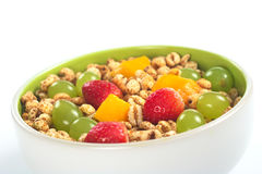 Fruit Salad with Cereals Royalty Free Stock Images