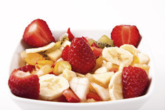 Fruit salad with chunks of fruit and yogurt Royalty Free Stock Images