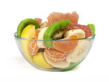 Fruit salad with citrus in a glass bowl Stock Photography