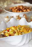 Fruit salad in a clam shell dish Royalty Free Stock Photo