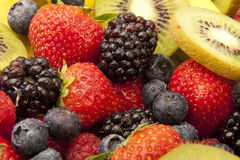 Fruit salad close up Royalty Free Stock Image
