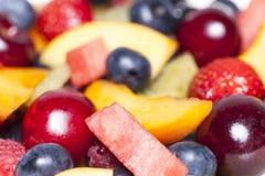 Fruit salad close-up Stock Images