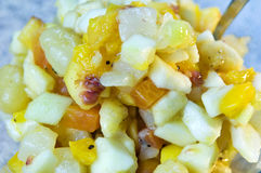 Fruit salad closeup Stock Images