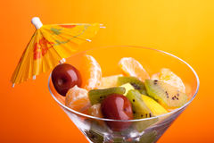 Fruit Salad Closeup Stock Photos
