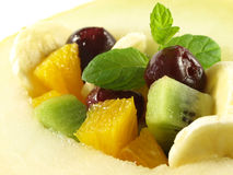 Fruit salad, closeup Royalty Free Stock Image