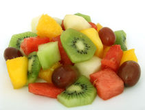 Fruit salad coctail on a plate Stock Image