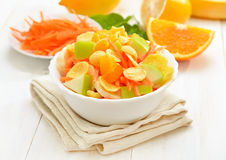 Fruit salad with cornflakes Stock Images