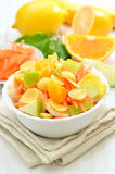 Fruit salad with cornflakes and fresh fruits Stock Photography
