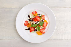 Fruit salad with cream cheese Royalty Free Stock Image