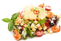 Fruit salad with croutons. Fruit salad with  some croutons Stock Image