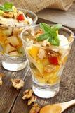 Fruit salad cups Stock Photo