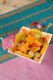 Fruit salad dessert Stock Image