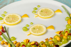 Fruit salad detail Royalty Free Stock Photo